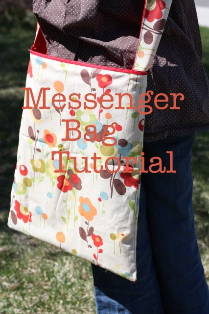 Easy Messenger Bag tutorial