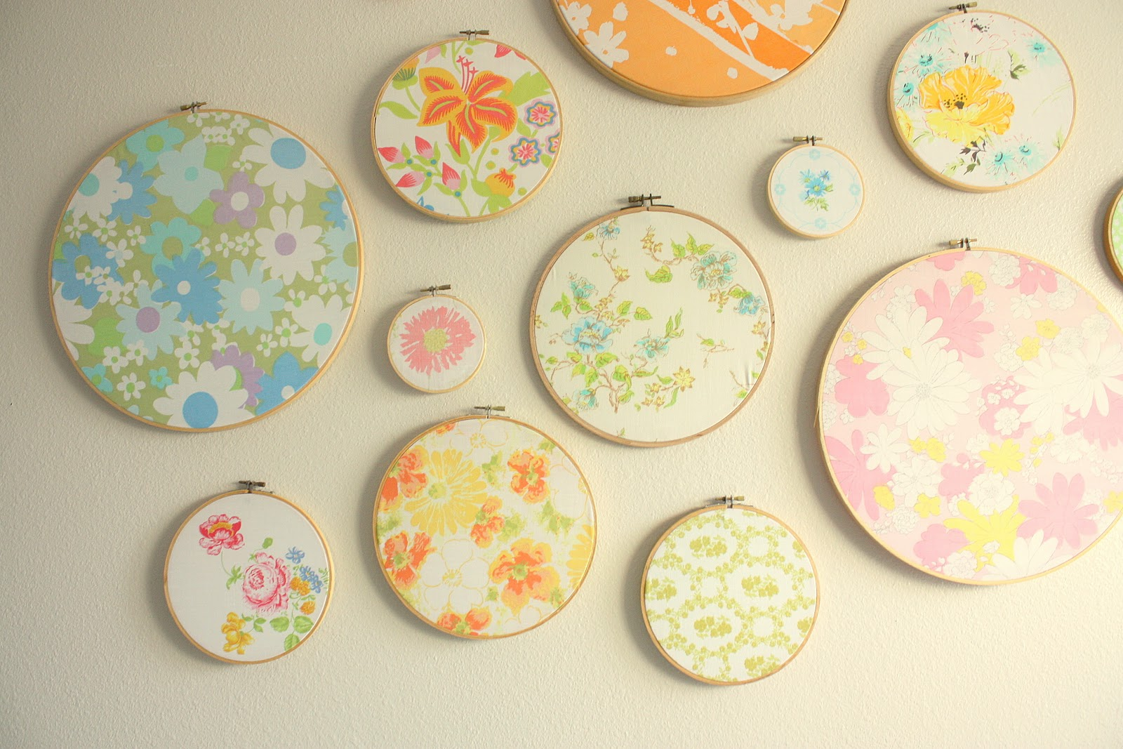 Fancy Embroidery Hoop Wall Art Ideas - Wall Art Collections ...