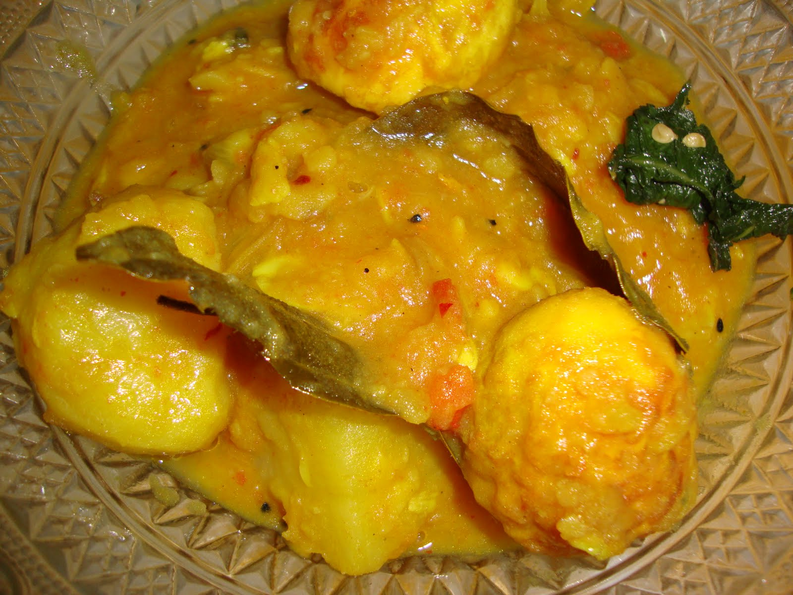 Khorisa egg curry konir dom for Assamese cuisine in delhi
