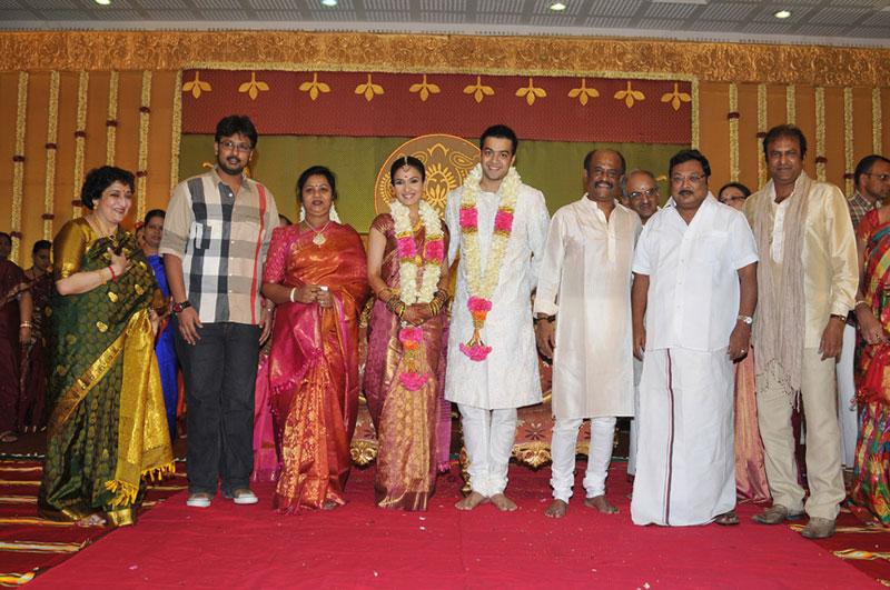 Soundarya Rajinikanth wedding reception Photos GalleryHeroin Soundarya Family Photos