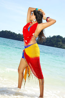 Priyamani Beach Side Pics in Colorful Dress