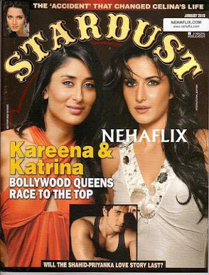 Kareena Kapoor and Katrina Kaif on Stardust Magazine January 2010