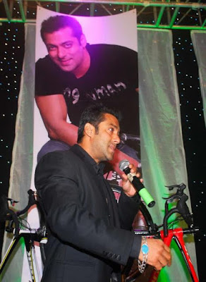 Salman Khan at Mumbai International Cyclothon Party