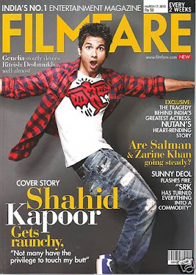 Shahid Kapoor on Filmfare Magazine