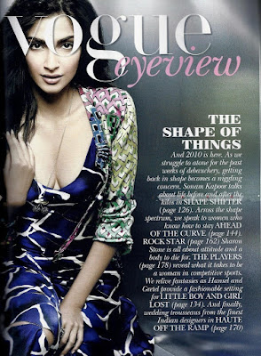 Sonam Kapoor on Vogue Magazine