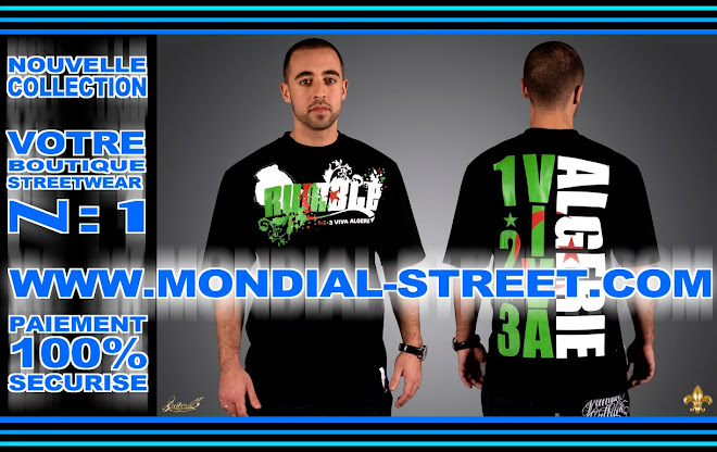 HTTP://MONDIAL-STREET.COM & RUMBLE WEAR SOUTIENNES L'ÉQUIPE NATIONAL L'ALGÉRIE ...sisi !
