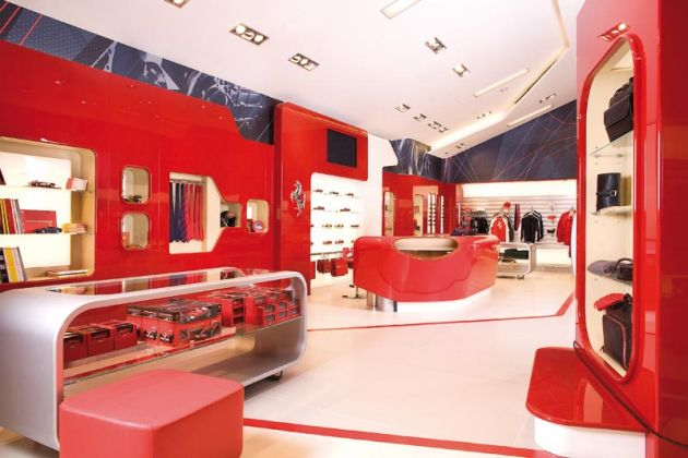 Stunning Architectural Design of Ferrari Factory Store by Iosa Ghini