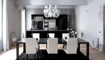 Contemporary Black and White Apartment Interior Design by Ingrid Matheu