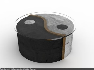 New simplicity Yin Yang Table Set by Vinicius Zarpelon