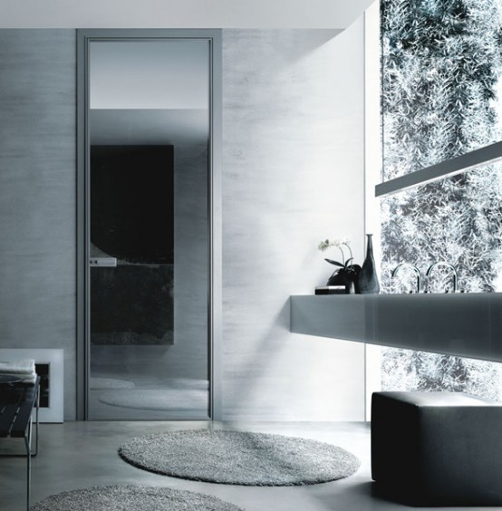 Modern Glass Interior Doors 554 x 564