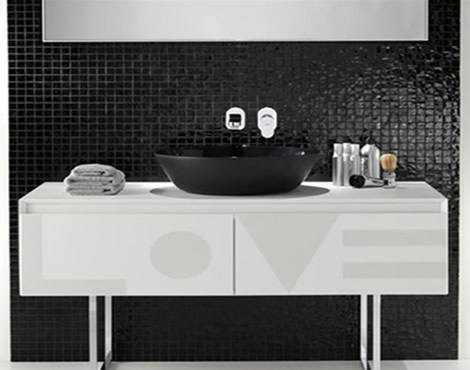 Contemporary Bathroom Furniture Modern Black and White Bathroom Furniture