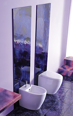 Elegant Bathroom Decoration with Purple Marble by Franco Pecchioli Ceramica