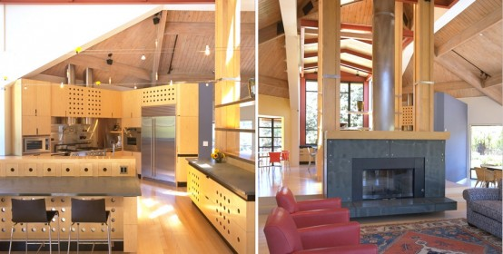 Modern Interior Redwood Forest House by James Bourret