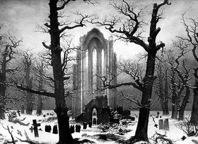 caspar david friedrich cloister cemetery in the snow