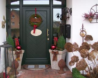 gartengl ck weihnachtlich dekoriert