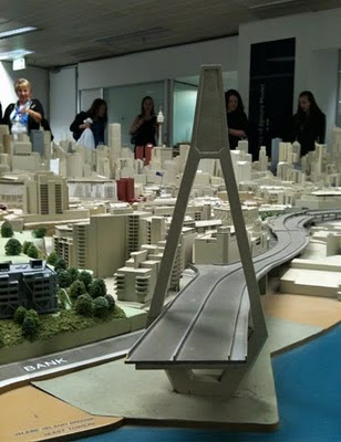 A model of Sydney, at the Town Hall