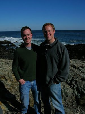 Mike and John in Maine
