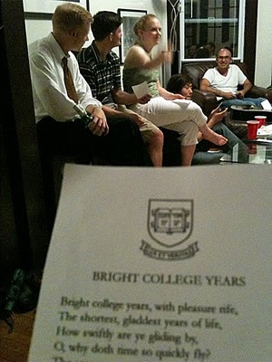 SOM-ers learn the tune of Bright College Years