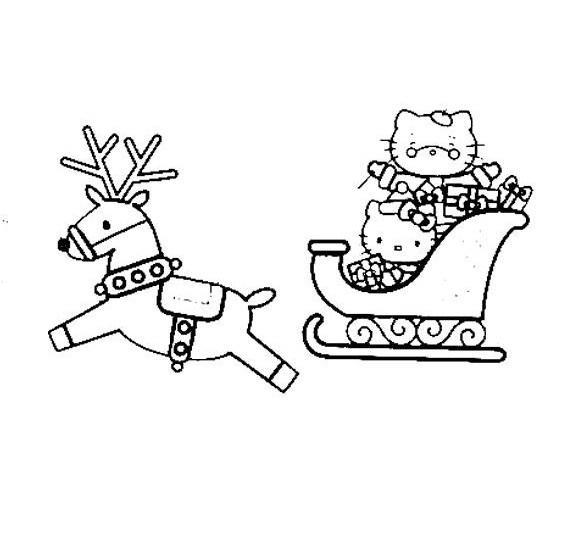 Dibujos para colorear: Dibujos de Navidad para pintar - Hello Kitty ...