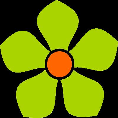 Recursos Infantiles Flores Verdes Varios Tamanos
