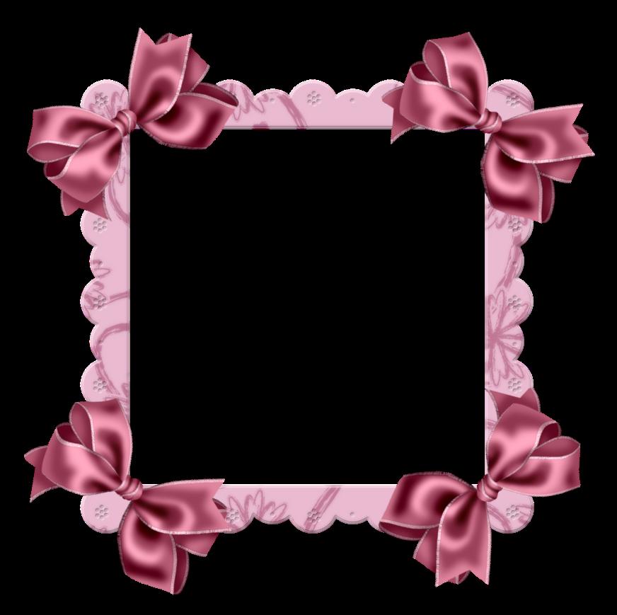 Marcos para fotos infantiles rosa y azul con lacitos png - Marcos para fotos infantiles ...