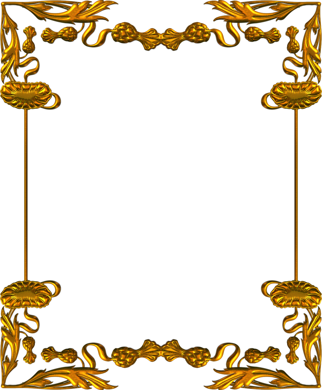 Marcos y bordes dorados vectores png imagui for Marcos de fotos dorados