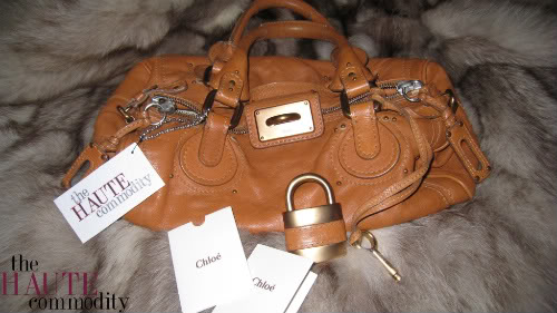 THE HAUTE SHOP: chloe paddington leather padlock satchel