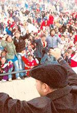 El Turco Mohamed frente a la tribuna