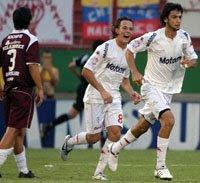 Leandro Diaz y Javier Pastore en Huracán 3-0 Lanús