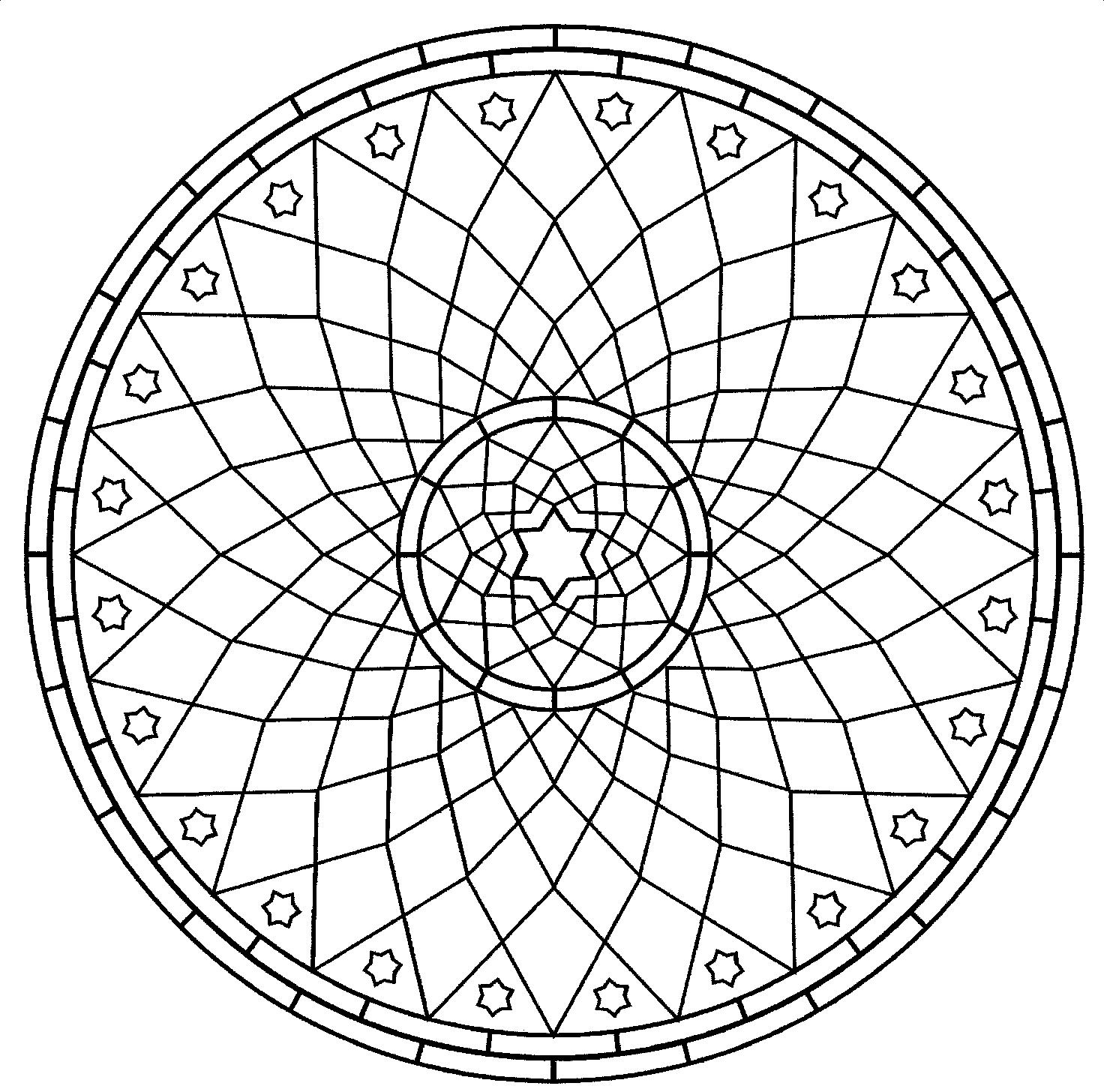 Kids Coloring Pages Mandala Coloring Pages