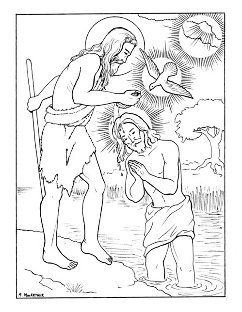 luminous mysteries coloring pages - photo#2