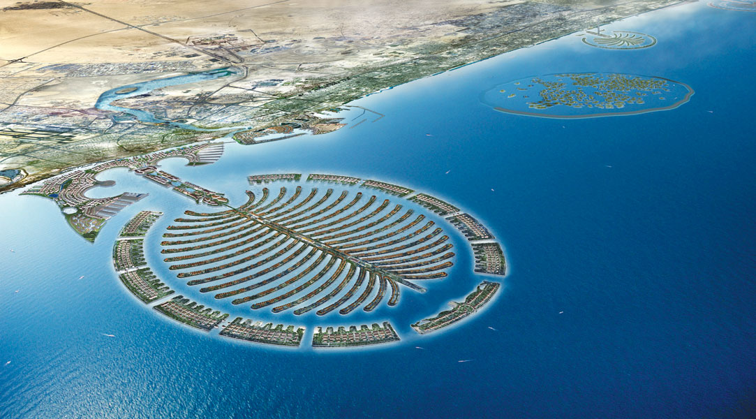 islands of dubai. artificial islands in the