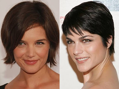 best celebrity hairstyles Katie Holmes Selma Blair short hairstyles