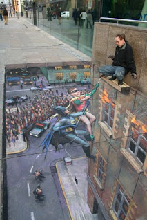 Amazing 3D Chalk Drawing Collections | 3D Chalk Drawing Photos