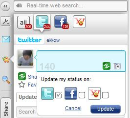 All in One Aplikasi untuk Twitter, Facebook, MySpace, Yahoo Messenger dan Email  | Yoono Mozilla adds-on untuk  Twitter, Facebook, MySpace, YM & Email