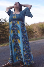Turquoise Patchwork Dress