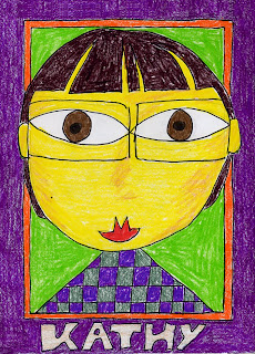 kids artwork portrait