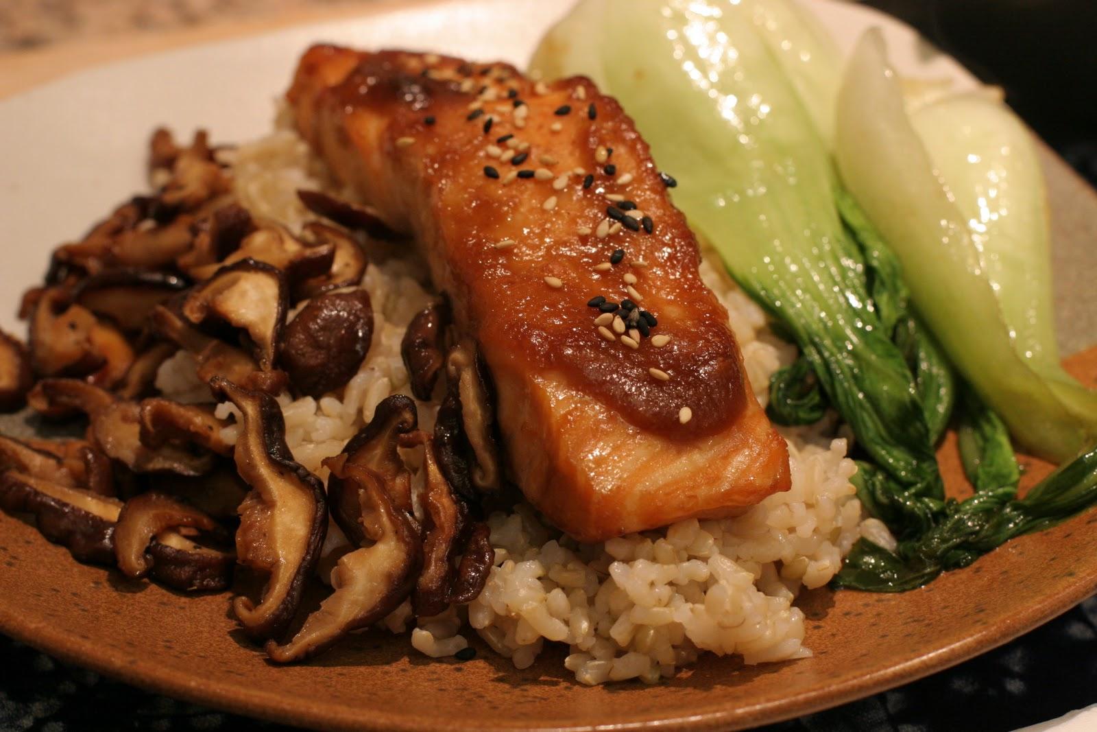 tuna kebabs japanese miso glazed eggplant nasu no dengaku miso salmon ...