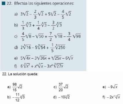Más mates - IGV: Ejercicios de radicales del libro Matemáticas I ...