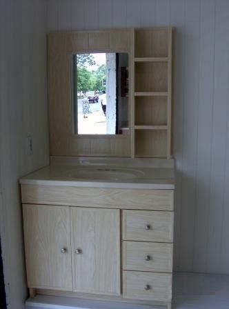 Carpinteria lara hernandez mueble para ba o en madera de for Puertas color pino