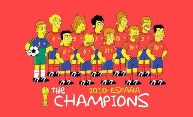 Espana selección española simpsons Matt Groening