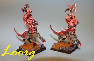 Warhammer: Ogros Dragón de tercera generación, los dos últimos modelos