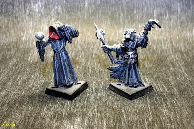 Miniaturas de Sauron y Nazgul