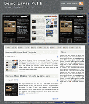 free blogger template warna putih