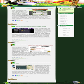free blogger template convert WordPress to Blogger sport style Rainbow Country template