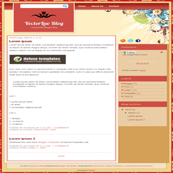 free blogger template VectorLuve for blogspot template