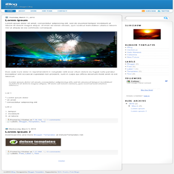 free blogger template iBlog for blogspot template