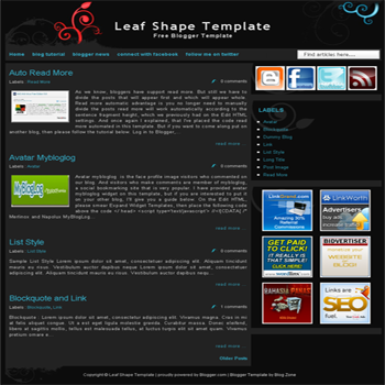 free blogger template magazine style with black color