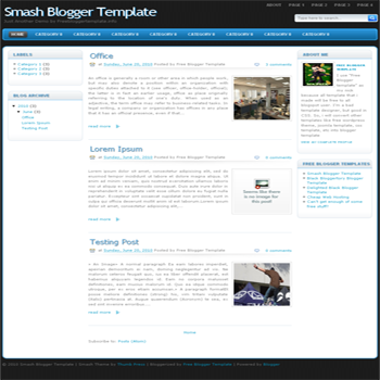 free blogger template convert WordPress to Blogger Smash blogger template