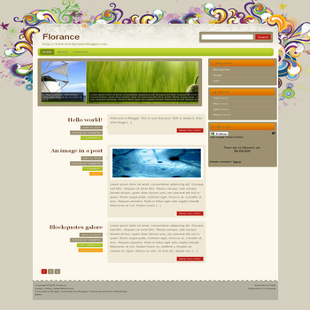 free blogger template convert from wordpress theme to blogger with image slideshow Florance template